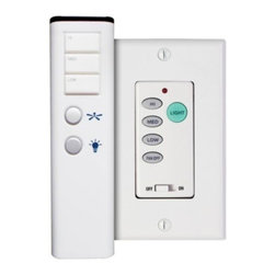 Modern Fan Company - Wall Control with Handset by Modern Fan Company - The Modern Fan Company Wall Control with Handset adds ease to the operation of Modern Fan ceiling fans with lights. Both the included wall-mounted control and compatible remote handset provide three fan speeds and full range light dimming (except for fluorescent lights). In 1997, The Modern Fan Company was founded by Ron Rezek to produce ceiling fans that provide superior air circulation, comfort and energy efficiency for contemporary-minded homeowners and design professionals. Having originated the contemporary ceiling fan genre, The Modern Fan Company remains the only company of its kind, committed exclusively to modern ceiling fan design.