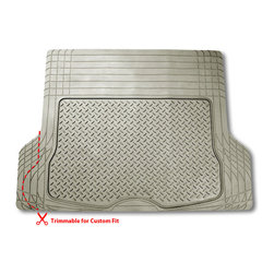 FH Group - FH Group Beige Vinyl Trim-able Trunk Cargo Mat - FH Group floor mats fit most of the standard vehicles. They are high quality and durable, these floor mats protect your car from dirt, wear and tear. They are also trim-able for a custom fit.