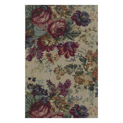 """Blazing Needles - Blazing Needles Tapestry Full Size Futon Cover in Rose Boquet-8"""" Full - Blazing Needles - Futon Covers - 9687/T11 - Blazing Needles Designs has been known as one of the oldest indoor and outdoor cushions manufacturers in the United States for over 23 years."""