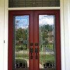 Doors - Provia front entry door with a transom installed in Great Falls, VA.