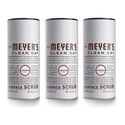 Mrs. Meyer's Surface Scrub - Lavender - Case Of 6 - 11 Oz - Mrs. Meyers Clean Day Surface Scrub in Lavender is a non-scratching powder that is made from naturally safe ash and oxygen bleach. It works hard on grimy surfaces throughout your home and leaves your tiles, stainless steel, cookware, and porcelain fixtures sparkling clean. The formula is completely eco-friendly and is chlorine and phosphate free. Mrs. Meyer's Surface Scrub will get any tough job done without harming the planet.