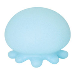 Dreams - Jellyfish Bath Light, White - A whole new way to enjoy bath-time! A new twist on the traditional rubber duckie, add one or a flotilla of gently lit jellyfish to your tub for fun and relaxation. Safer than candles and more charming, the light up jellyfish soothes with a soft glow in pretty pastel colors. Button on the bottom switches the LED light inside the jellyfish on and off. The jellyfish also has little feet so that it can be used as a nightlight, too! Available in white, pink, and violet colors.