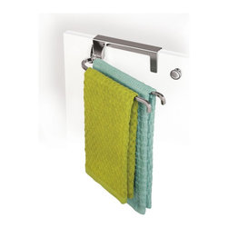 Lynk Over-Cabinet-Door Organizer, Chrome Pivoting Towel Bars - I like to keep my kitchen free of clutter, so these over-the-cupboard-door towel hangers are just perfect. They're genius!