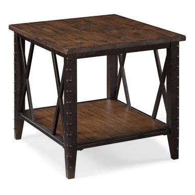 Magnussen - Magnussen Fleming Rectangular End Table in Rustic Pine - Magnussen - End Tables - T190803