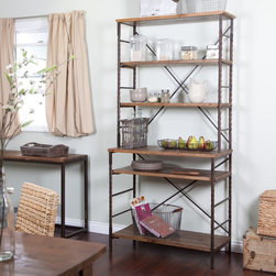 Alfred Zahn Ltd - Townsend Bakers Rack Multicolor - HX11924 - Shop for Baker Racks from Hayneedle.com! Wood metal and a timeless rustic design combine to make the stylish and spacious Townsend Bakers Rack. There are six shelves to keep your dishes pots and pans cookbooks and other kitchen essentials neatly organized and easily accessible. A wood center surface provides a handy counter that doubles as a work area for meal prep or serving drinks and appetizers at dinner parties. A rich multi-step finish gives the fir wood a warm rustic look and the wood is distressed for added charm and visual interest. The strong metal frame features a rustic-bronze finish making this versatile piece a smart storage solution as well as an eye-catching addition to a kitchen or dining room. Two middle top and bottom shelves are adjustable. Counter height is 33.5 inches off floor. But you won't find it just anywhere: the Townsend Collection is a Hayneedle exclusive. Shelf Dimensions (from top to bottom) 37.4W x 12.8D inches 36W x 10D x 13.39H inches 36W x 10D x 12.2H inches 36.6W x 15.7D x 14.17H inches 35.8W x 15.7D x 12.99H inches 35.8W x 15.7D x 13.39H inches Clearance between lowest shelf and floor: 5.12 inches About Belham LivingBelham Living builds catalog-quality furniture in traditional styles at a price that actually makes sense. By listening to our customers and working closely with great manufacturers we build beautiful pieces worthy of your home. Rich wood finishes attention to detail and stylish lines that tie everything together are some of the hallmarks of a Belham Living piece. From the living room or bedroom through the kitchen and out onto the deck there's something from an incredible Belham collection perfect for your style.