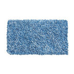 None - Soft Blue Cotton Shag Rug (4'7 x 7') - Accent any room with a new area rug Casual rug is hand-woven of cotton Rug displays shades of light blue