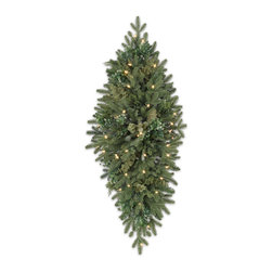 """Balsam Hill - 48"""" Balsam Hill® Fraser Fir Meadow Artificial Christmas Mailbox Swag - Our 48"""" Fraser Fir Meadow mailbox swag is the perfect addition to your holiday decorations. The eucalyptus, cypress, and boxwood leaf accents on our BH Fraser Fir holiday swag create subtle, yet sophisticated layers of green that evoke the tranquil ambiance of the outdoors. Our hand-crafted mailbox swags have been featured on TV shows such as """"Ellen"""" and """"The Today Show"""" and are a recipient of the Good Housekeeping Seal of Approval. Balsam Hill swags hang beautifully, are made of flame-retardant and non-allergenic materials, and are covered by our popular 5-year foliage and 3-year light warranties. Free shipping when you buy today!"""