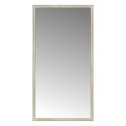"""Posters 2 Prints, LLC - 43"""" x 82"""" Libretto Antique Silver Custom Framed Mirror - 43"""" x 82"""" Custom Framed Mirror made by Posters 2 Prints. Standard glass with unrivaled selection of crafted mirror frames.  Protected with category II safety backing to keep glass fragments together should the mirror be accidentally broken.  Safe arrival guaranteed.  Made in the United States of America"""