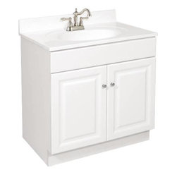 NATIONAL BRAND ALTERNATIVE - 30 x 21 White Vanity 2-Door - Features: