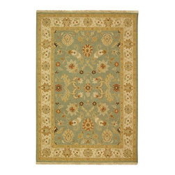 Safavieh - Sumak Blue/Brown Area Rug SUM412A - 9' x 12' - The design world's renewed interest in flatweave rugs has inspired Safavieh's new Sumak collection of naturalistic floral patterns in a contemporary fashion palette. The Sumak collection is created in India using the traditional Turkish Sumak weave to create a chain-stitched brocaded effect that complements today's young, casual interior design schemes. This 100 percent wool collection was designed to meet consumer demand for rugs that coordinate with both country and coastal furniture. Safavieh's Sumak collection references Caucasian patterns handed down from mother to daughter for centuries to recreate the coveted hand-crafted, natural and antique appearance in rugs designed for today's lifestyles.
