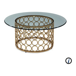 Bassett Mirror - Carnaby Round Cocktail Table - Carnaby Round Cocktail Table by Bassett Mirror