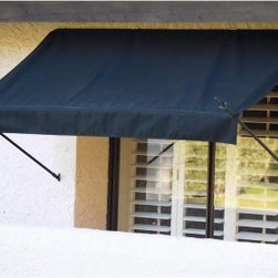 Awnings In a Box Designer Awning - 6 ft. - From lemonade stands to five-star restaurants, awnings serve as a welcome mat saying open for business; and the Awnings In a Box Designer Awning - 6 ft. puts your home's or office's best foot forward, setting visitors at ease with its inviting charm. Six feet wide, these awnings work well above most windows and doors for decorative appeal. And their adjustable sliding sidebars allow a customizable drop length that makes them function exactly as you need them to. With a steep pitch, you can avoid rain pockets or mounded snow that could dump on you unexpectedly; or with a slightly more gradual pitch, you can maximize the projection from the house, achieving greater shade and coverage. The shade it provides in the summertime helps you keep your home or office cool, while cutting down on energy costs, and prevents both glare on your window as well as fading in your draperies, carpets, and furniture.Awnings in a Box are designed with the utmost care and consideration for keeping the facade of your home or office looking nice. The powder-coated aluminum sidebars and commercial-grade hardware are guaranteed not to rust. And being mildew resistant as well as poly-urethane coated with Teflon, the Sunsational Select fabric is one of the most durable solution-dyed fabrics on the market today for outdoor use and comes in a wide variety of colors that are sure to complement your exterior. These awnings can be installed easily into stucco, wood, or brick. And because they are light, retractable, and removable, these awnings can be easily cleaned and kept looking new in the event of adverse weather such as high-wind storms.About Sunsational ProductsAs the home products division of IDM Worldwide, Sunsational Products are pioneers in the first easy-to-install, Do-It-Yourself, Awnings in a Box. This product has proven to be one of the most highly demanded products in IDM's home product line and is offered only to leading vendors. Awnings in a Box represents a solution to one of the most under developed areas of DIY home improvement. The concept was such a success, IDM Worldwide moved forward in offering a Do-It-Yourself Door Canopy in a Box product for residential and commercial use.