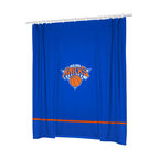Sports Coverage - NBA New York Knicks Basketball Bathroom Shower Curtain - Features: