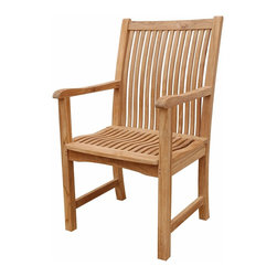 Anderson Teak - Chicago Armchair - This armchair claimed to be the most comfortable chair ever built. This back & seat curve traditional style-dining armchair will never go out of style, but quietly blends with any other design. The seat is very sturdy as well as the back. Place this chair in your backyard with the dining table, will amazed your family or friends. Cushion is optional and is being made by order.