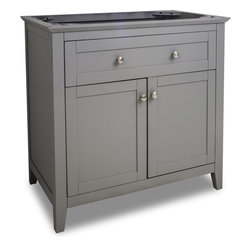 "Hardware Resources - VAN102-36 35-11/16"" Grey Chatham Shaker Vanity Base in Grey - 35-11/16"" Grey Chatham Shaker Vanity Base by Hardware Resources"