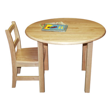 "Ecr4kids - Ecr4Kids Kids Children Classroom Preschool 30"" Round Hardwood Table W/ 22"" Legs - A classic edition to any classroom, playroom, library, or common area, this durable, solid hardwood table is attractive and built to last. Tabletops are beautiful, easy-to-clean, and have smooth, rounded edges for style and safety. Features a 34 thick hardwood tabletop, solid hardwood legs (1-34 square)."