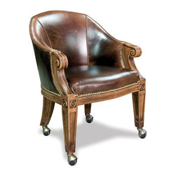 California House - ivey chair w/ casters (leather) - Manufactured in the USA, we are proud to offer our customers this premium game room furniture from a third generation, family-owned company.