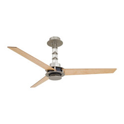 Minka Aire - Mink Aire San Francisco without Light Ceiling Fan in Brushed Steel - Minka Aire San Francisco wo/Light Model F528-BSCH in Brushed Steel with Birdseye Maple Finished Blades.