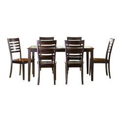 Liberty Furniture Cafe Collections Merlot 7 Piece 60x36 Dining Room Set in Cherr