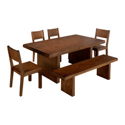 Jofran Braeburn 6-Piece Dining Room Set with Bench