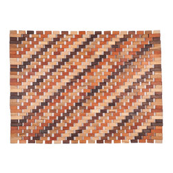 Entryways - Roosevelt Exotic Wood Mat - Natural 18x30 - Crafted of exotic wood, this handsome mat will add an elegant touch to any home. It is from Entryways Exotic Woods collection and meets the industry's highest standards. This design combines natural beauty and durability with surprising affordability.