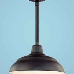 Warehouse Outdoor Pendant - Can you envision this fixture lighting the entrance to your mountain home?