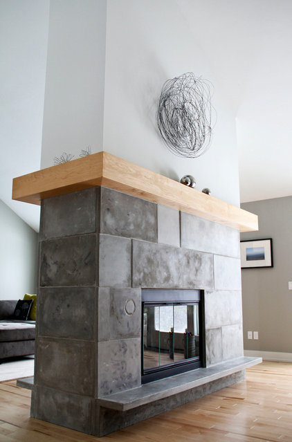 Contemporary Indoor Fireplaces by Amy J. Greving - Art Studio LLC