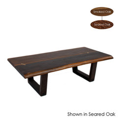 Nuevo Living - Kava Coffee Table, Seared Oak/Large - Solid & sturdy wood legs
