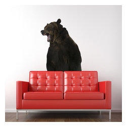 "Patrick Weber - Bear Wall Decal - Our Bear Wall Decal will add a sense of wilderness to your home. This Bear Wall Decal brings the outdoors inside. This bear decal is so realistic you should probably hang your food from a tree just to be safe. Our Bear Wall Decal is printed on non-toxic adhesive canvas. Size: 38"" wide x 78"" tall"