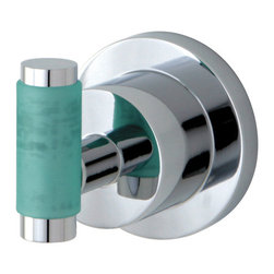 Kingston Brass - BA8217CDGL Green Eden 2-1/2 inch Robe Hook With Neoprene Sleeve, Chrome - The perfect way to give the finishing touches to your bathroom is by adding these matching bath accessories, all with matching Neoprene inserts, available in Polished Chrome and satin Nickel.; High Quality Brass Construction; Fine Artistic Craftsmanship; Green Neoprene handle for a great grip and easy clean-up; Easy Installation; Mounting Hardware Included; Material: Brass; Finish: Chrome; Collection: Green Eden