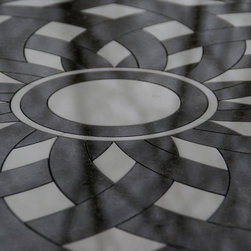 Dreamweaver - This majestic floor medallion serves as a focal entry point into any room or foyer.  It can be scaled into almost any size and in any material.  Pricing is based on materials used.