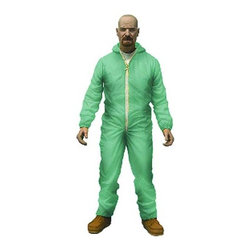 KOOLEKOO - Breaking Bad Walter White Hazmat Suit Action Figure - Collect Walter White from Breaking Bad in his awesome hazmat suit! This Breaking Bad Walter White Previews Exclusive Hazmat Suit Action Figure stands 6-inches tall and features the chemistry genius science teacher turned kingpin in a hazmat suit, recreating the look he sports as he's working in the lab. Accessories also included is a small liquid container, a small flask, and a large flask. Relive the tense, edge-of-your-seat excitement with the Breaking Bad Walter White Previews Exclusive Hazmat Suit Action Figure!