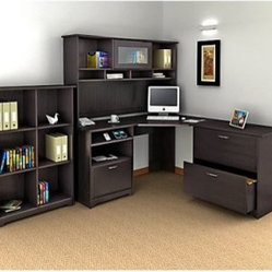 Bush Cabot Corner Computer Desk with Optional Hutch and Accessories - This collection is what ...