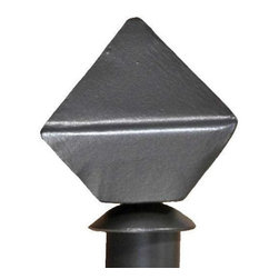 Stone County Ironworks - Forest Hill Curtain Finial (Natural Black) - Finish: Natural Black. Sphere shape. Made from iron. Weight: 2 lbs.