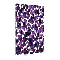 """Kess InHouse - Ebi Emporium """"Giraffe Spots - Purple"""" Lavender Wrapped Art Canvas (12"""" x 10"""") - Bring your outdoor patio to life with this artistic outdoor canvas wrap featuring gorgeous artwork by KESS InHouse. These canvases are not only easy to hang and remove but also are the perfect addition to your patio collection. These canvases are stretched around a wooden frame and are built to withstand the elements and still look artistically fabulous. Decorating your patio and walls with these prints will add the splash of art and color that is needed to bring your patio collection together! With so many size options and artwork to choose from, there is no way to go wrong with these KESS Canvas Wraps!"""