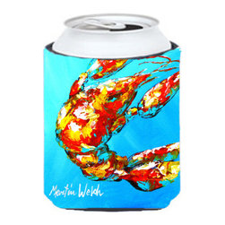 Caroline's Treasures - Crawfish Baby Craw Can or Bottle Hugger - Can Cooler - this collapsible koozie fits 12 ounce beverage. Cans or bottles. Permanently dyed and fade resistant. Will not crack or peel. Great to show off your breed. Match with one of the insulated coolers for a nice gift pack.