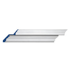 """Inviting Home - Tampa Crown Molding - 6 foot length (sold in pairs) - pair of 6 foot long Tampa crown moldings 7-7/16""""H x 9-3/16""""P x 12""""F x 6'00""""L (each) 4 piece minimum order required crown molding specifications: - outstanding quality crown molding made from high density polyurethane: environmentally friendly material is hypoallergenic and fully recyclable no CFC no PVC no formaldehyde; - front surface of this molding has extra durable and smooth surface; - crown molding is pre-primed with water-based white paint; - lightweight durable and easy to install using common woodworking tools; - metal dies were used for consistent quality and perfect part to part match for hassle free installation; - this crown molding has sharp deep and highly defined design; - matching flexible molding available; - crown molding can be finished with any quality paints; Polyurethane is a high density material--it's extremely lightweight and easy to install (and comes primed and ready to paint). It is a green material meaning its CFC and formaldehyde free. It is also moisture resistant--so it won't shrink flex or mold. What's also great about Polyurethane is that it's completely customizable and can be treated as wood (you can saw it nail it screw it and sand it). In addition our polyurethane material comes primed and ready to paint. There is a four piece minimum requirement for this molding purchase."""