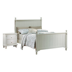 Homelegance - Homelegance Pottery 2-Piece Panel Bedroom Set in White - Distinguished by matching slat-detailed head and footboard, bedpost finials and matching bun feet, beds like these will always have a widespread appeal amongst folks who see home as where the heart is. A white finish completes the look and appeal of the Pottery white panel bed.