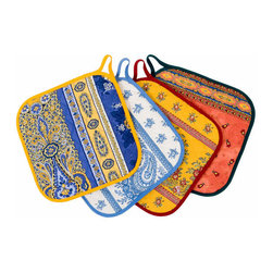 Provencal Pot Holders - I love the pretty, intricate patterns on these hot pads. They're both functional and decorative.