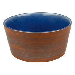 Waechtersbach - Pure Nature Blue Set of 4 Cereal Bowls - The two-toned effect of this set of four ceramic bowls gives them their signature look. A hand-crafted crackle glaze on the inside is the perfect complement to the rustic painted exterior. These are sure to become classics in your home and enjoyed throughout the years.