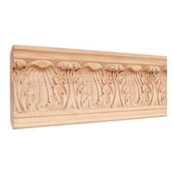 Hardware Resources - Hard maple Traditional Mouldings - Crown moldings ease the transition from ceiling to wall. They add character and elegance to your room from the simple and traditional to the rich curves and flowers of the Renaissance designs. Give your room the finishing touch it deserves.