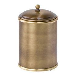 Ws Bath Collections Windsor Waste Basket With Lid In Old Brass Windsor By Ws