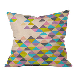 DENY Designs - Bianca Green Completely Incomplete Outdoor Throw Pillow - Do you hear that noise? it's your outdoor area begging for a facelift and what better way to turn up the chic than with our outdoor throw pillow collection? Made from water and mildew proof woven polyester, our indoor/outdoor throw pillow is the perfect way to add some vibrance and character to your boring outdoor furniture while giving the rain a run for its money.