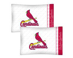Store51 LLC - MLB St Louis Cardinals Baseball Set of 2 Logo Pillowcases - Features: