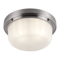 Murray Feiss - Murray Feiss Elliot Transitional Flush Mount Ceiling Light X-SB183MF - The Elliot Collection of flushmounts features a deep, broad shade surrounded by a simple beveled ring detail. Available in two sizes and two finishes.