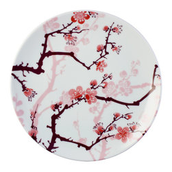 Ink Dish - Ink Dish Paul Timman Cherry Ink Side Plates, Set of 4 - Sakura StyleDraw the line high when it comes to your dinnerware. With Ink Dish's Cherry Ink Side Plates, Set of 4, you can always dine in pure style. Each plate is made from A-quality porcelain and features a stunning, tattoo-inspired design. World-renowned tattoo artist Paul Timman created a gorgeous cherry blossom motif in the delicate sumi style of Japanese tattooing, where soft edges replace black outlines. Embrace the Asian-inspired look, or let these plates add a soft, feminine feel to your table.Set of four side platesMade in Bangladesh