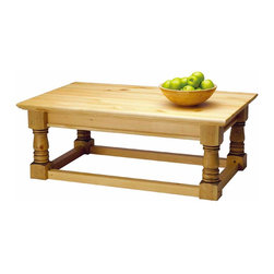 Renovators Supply - Coffee Tables Distressed Country Pine Vintage Coffee Table 17H | 193929 - Coffee Table. This Vintage coffee table is built of solid pine- then distressed on its surface to give an authentic vintage antique flavor. It is finished with a Country Pine stain. Measures 17 in. high x 45 in. wide x 28 in. proj.