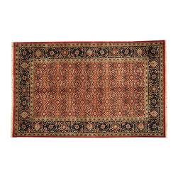 Red Herati Oriental Rug, 5X8 300 Kpsi Hand Knotted New Zealand Wool Rug SH12855 - This collection consists of fine knotted rugs.  The knots per square inch means more material in the rug as well as more labor.  This leads to a finer rug and a more expoensive rug.  Classical and traditional persian motifs are usually used as designs in these rugs.