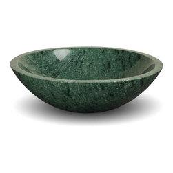 DREAMLINE ROUND STONE BATHROOM SINK INDIAN GREEN MARBLE -