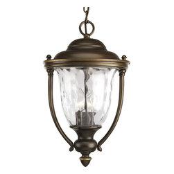 Progress Lighting - Progress Lighting P5584-108 3-Light Hanging Lantern with Clear Optic Glass - Progress Lighting P5584-108 3-Light Hanging Lantern with Clear Optic Glass